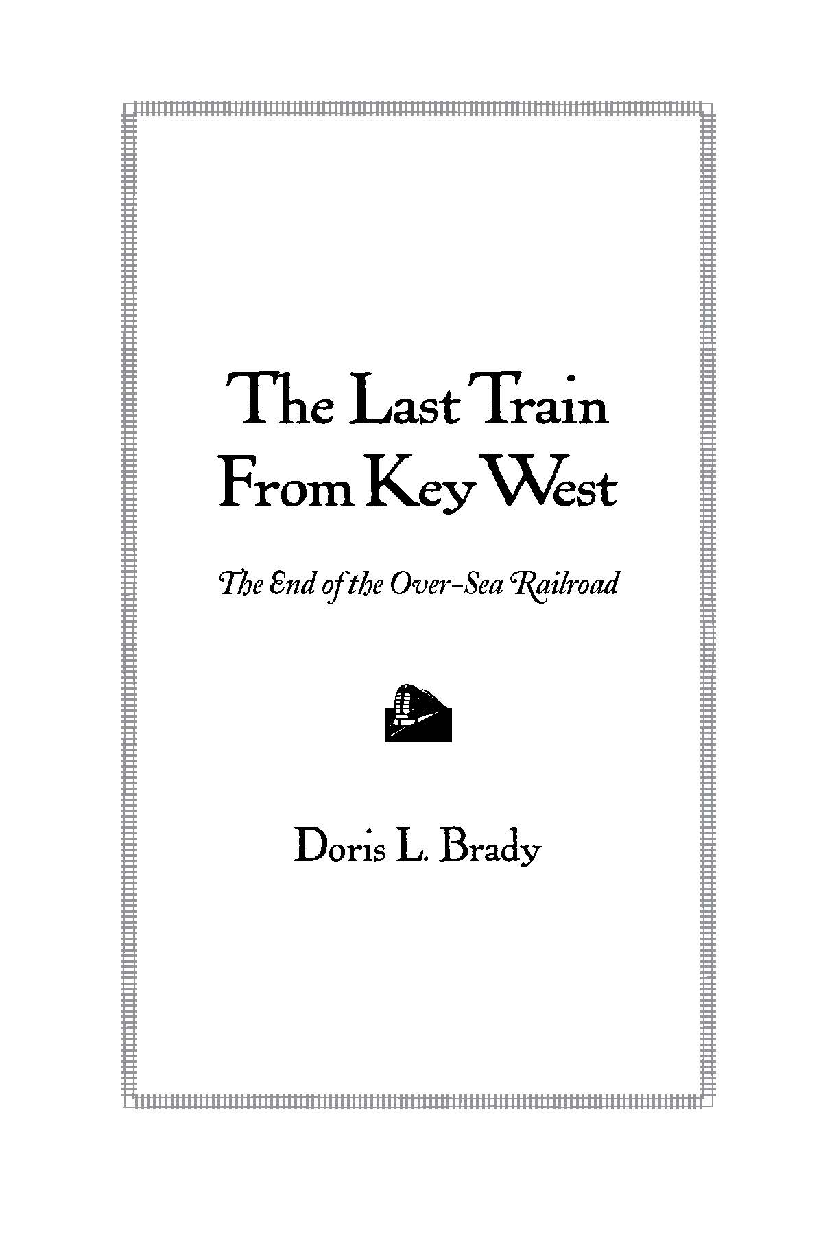 Last Train from Key West title page