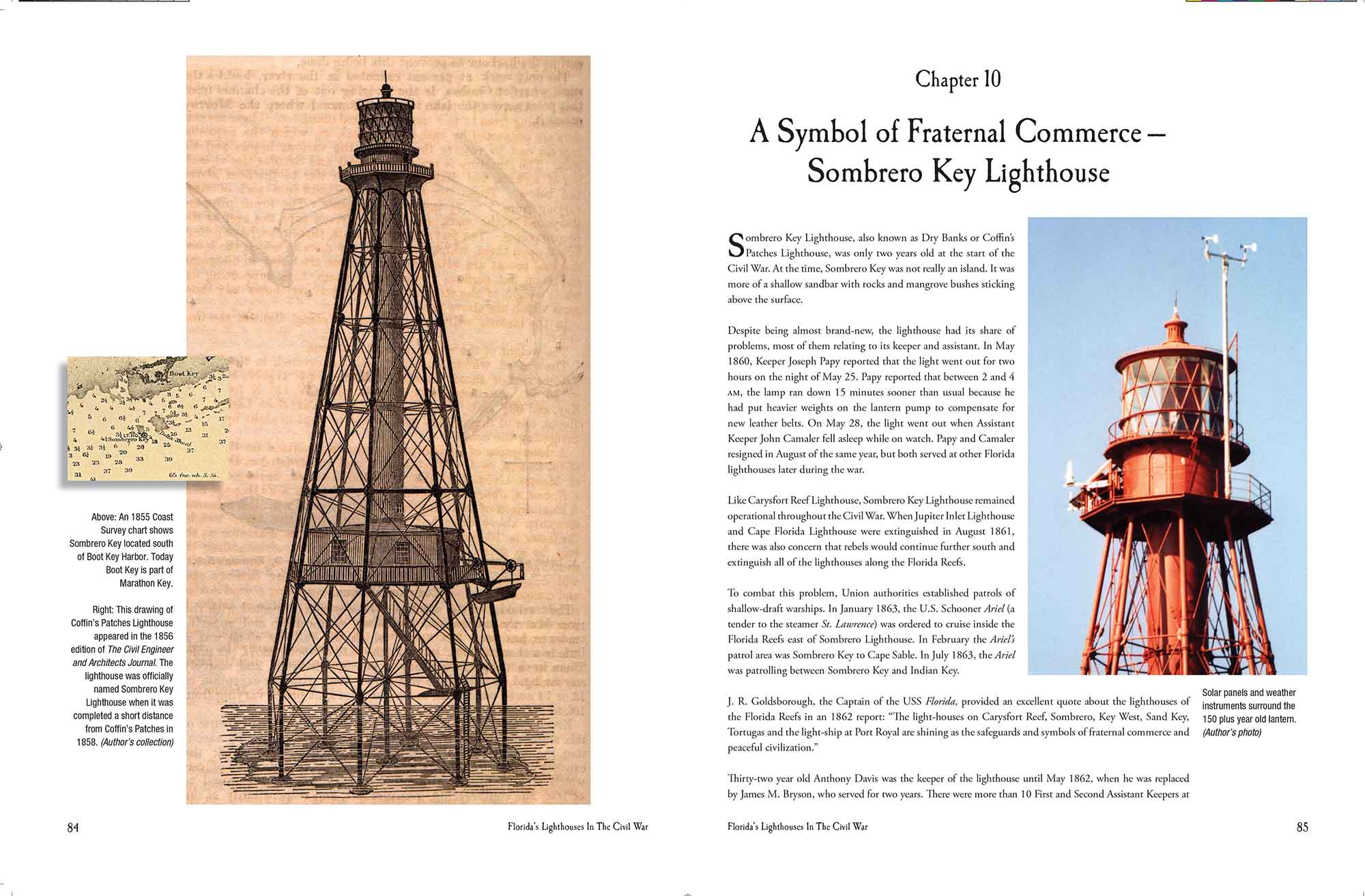 Spread for Florida Lighthouses in the Civil War
