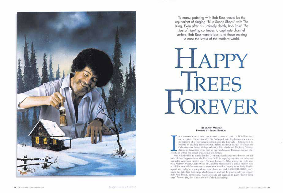 Orlando Magazine Bob Ross spread